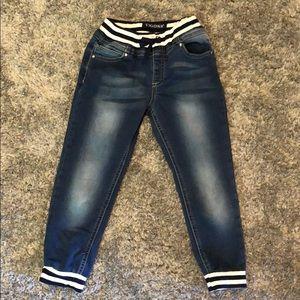 Little Girls Vigoss Elastic Waist Jeans